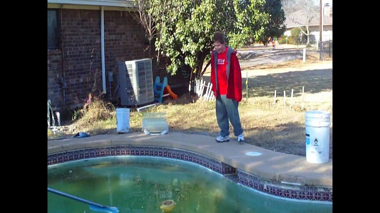 Breaking The Ice In Swimming Pool January 2010 Youtube