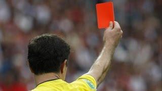 swedish footballer adam lindin ljungkvist red carded for farting too loud video