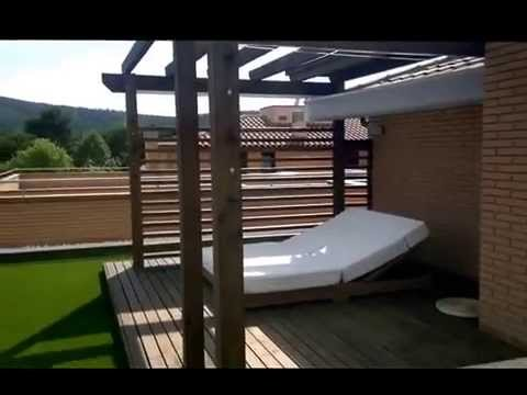 pergolas de madera y zona chill out