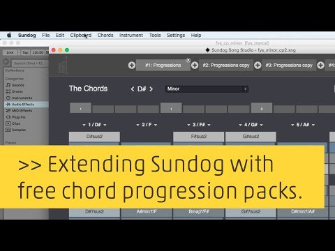 Tutorial: Adding free chord progression packages to Sundog Song Studio