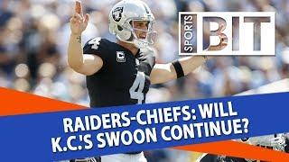 Oakland Raiders at Kansas City Chiefs | Sports BIT | NFL Picks thumbnail