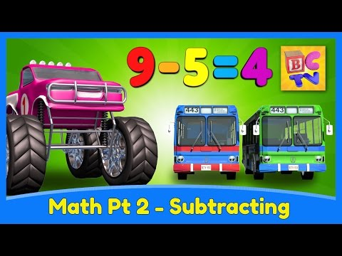 Learn Math for Kids | Subtracting with Monster Trucks by Brain Candy TV