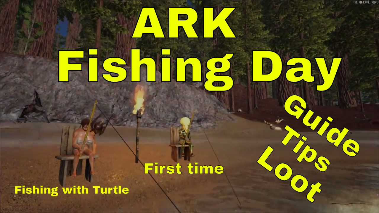 Ark fishing day great loot first time fishing for Fishing pole ark