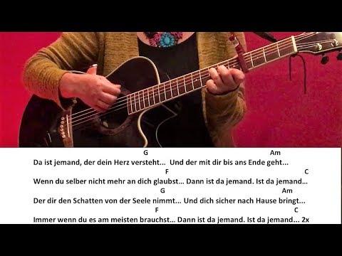 Ist da jemand - Adel Tawil / Gitarre/Guitar/Tutorial/Cover/Chords/Lyrics
