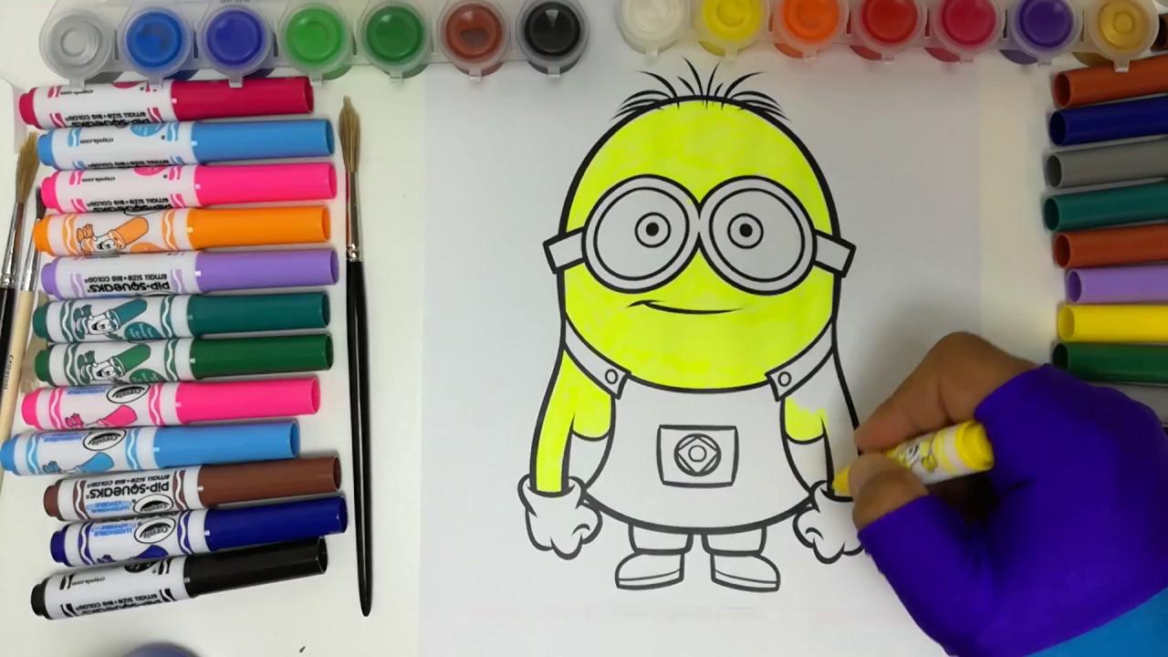 Minions cartoni animati da colorare coloring minions youtube