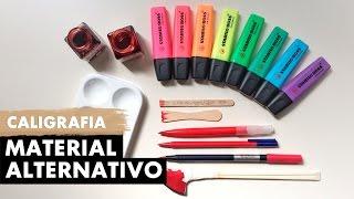 CALIGRAFIA COM MATERIAIS BARATOS   Primeiro Rabisco thumbnail