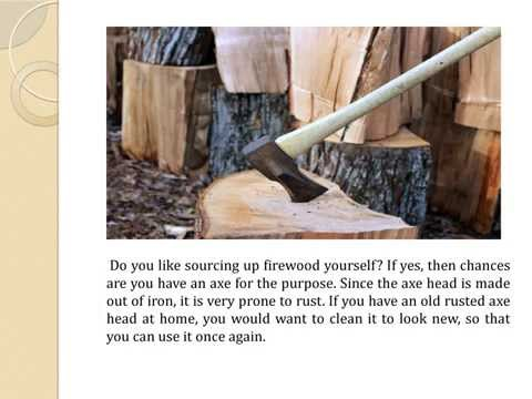 How to clean a rusted axe head