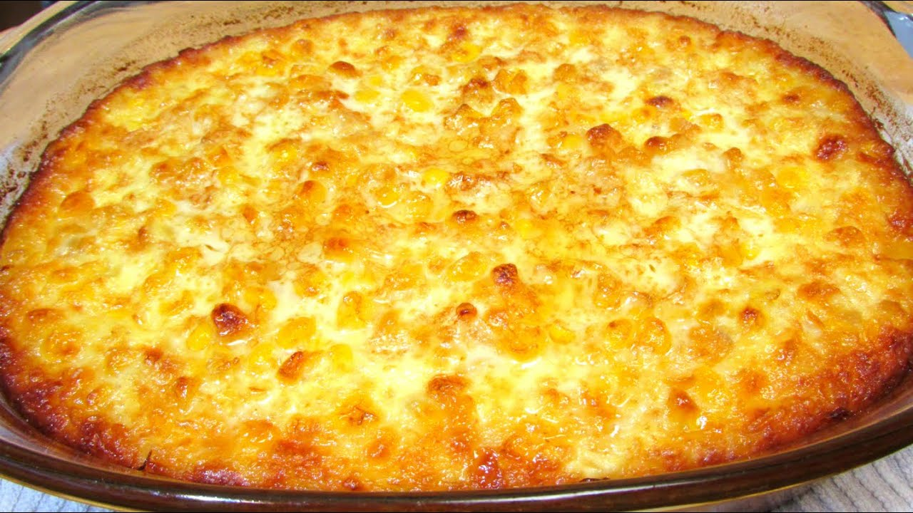 Old Fashioned Corn Pudding - Corn Casserole Recipe - YouTube