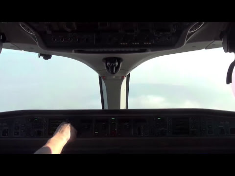 CSeries CS100 Cockpit Landing at Zürich