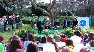 """2013 White House Easter Egg Roll: The Wanted Reads """"caps For Sale"""""""