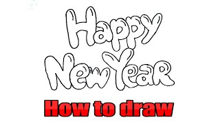 Happy new year 2020 3d drawing Drawing 2020 3d