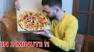Pizza Challenge !  ( Mananc o pizza in 2 minute )