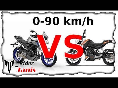 KTM Duke 125 VS Yamaha MT 125 | Drag Race