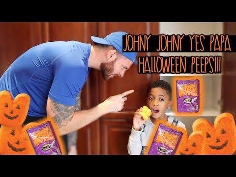 Eating Magic Halloween Peeps Johny Johny Yes Papa