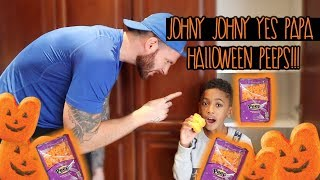 Eating Magic Halloween Peeps Johny Johny Yes Papa