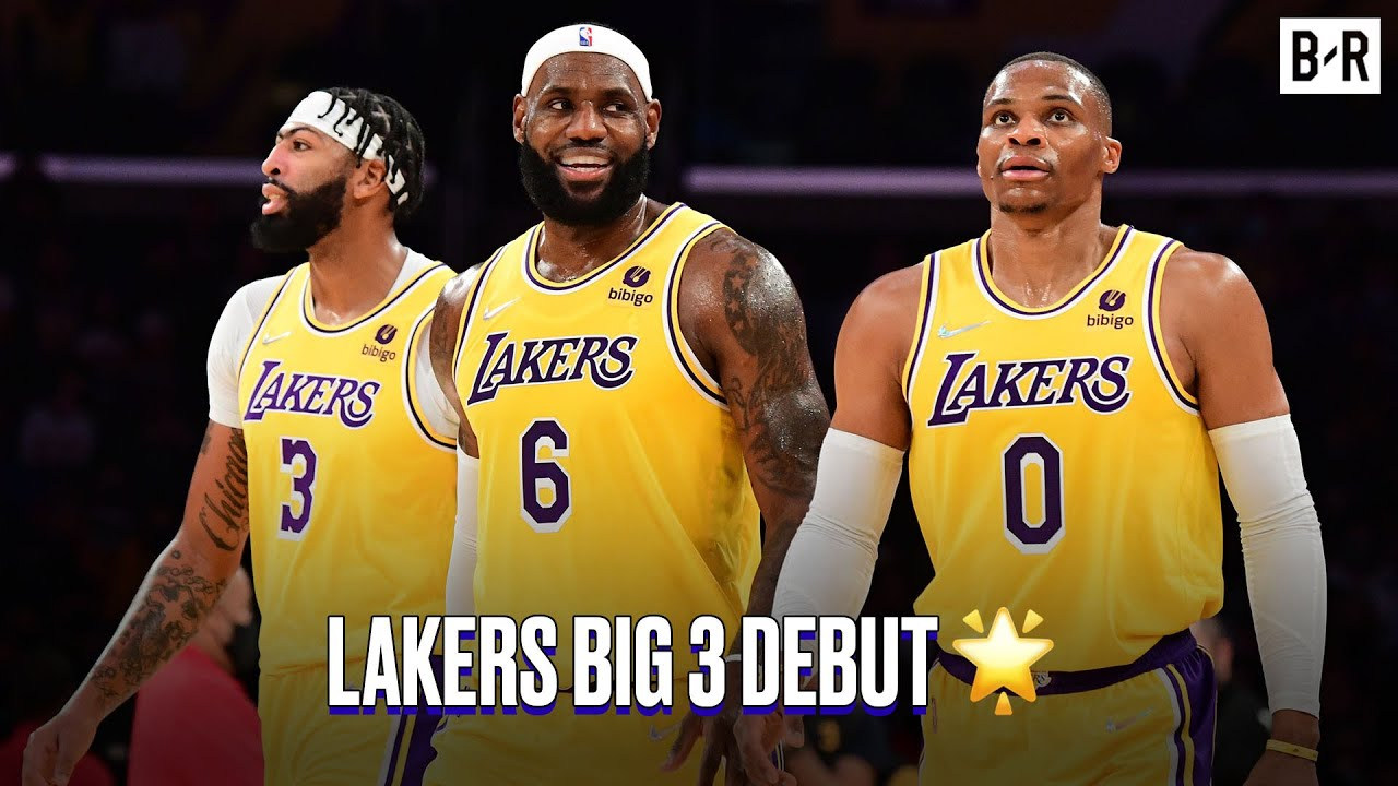 Los Angeles Lakers debut LeBron James-Anthony Davis-Russell ...