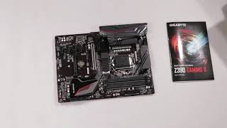 Unboxing Gigabyte Motherboard Z390 GAMING X s1151 4DDR4 HDMI/M.2 ATX