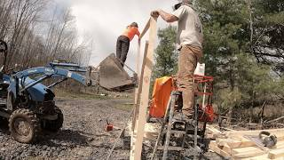 Moving my sawmill and building a shed over mill head