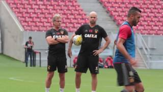 Treino na Arena de Pernambuco para Sport x Flamengo