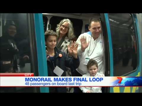 Seven News Sydney - Monorail closure (1/7/2013)
