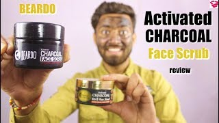 BEARDO activated charcoal face scrub review | Which is Best FACE SCRUB for you ??