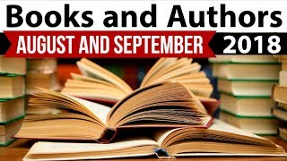Books & Authors - Complete August & September 2018 - Current Affairs 2018 in Hindi- IBPS/SSC CGL/SBI