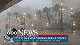 Hurricane Zeta slams Louisiana as Category 2 storm