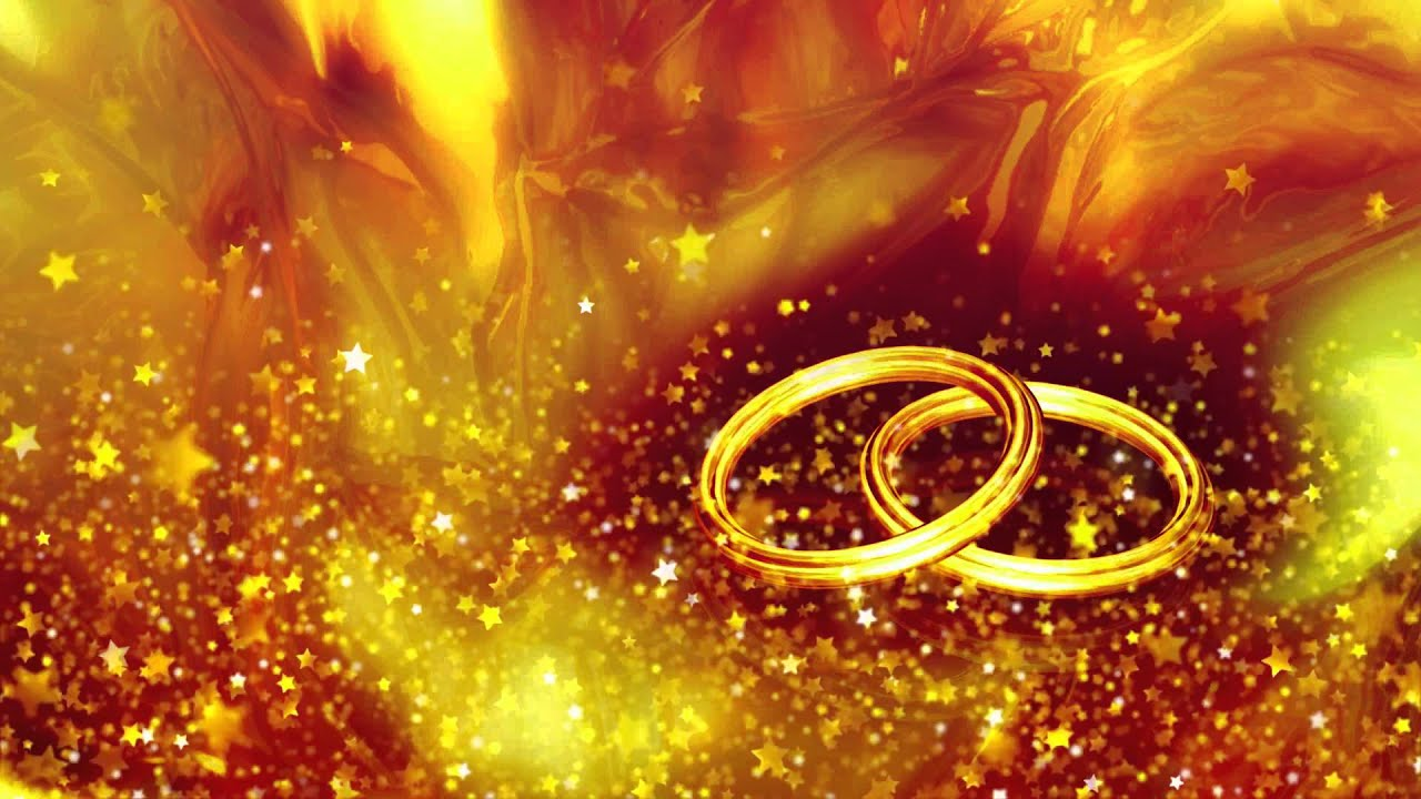 Wedding Rings Video Background Cool Stars Flying Animation
