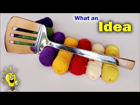 WOW !!! Best Idea Out of Turner and Thread || DIY Wall hanging Making at Home 2018 || Handmade Craft