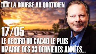 Bourse Au Quotidien - Le Record Du CAC40 Le Plus Bizarre Des 33 Dernières Années...