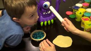 Imaginext Tentaclor Eating A Play Doh Blueberry Pie