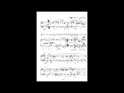 Elliott Carter - Bariolage from Trilogy for harp and oboe