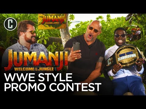 The Rock Judges Kevin Hart & Jack Black in a WWE Jumanji Promo Contest