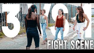 3 GIRLS VS 1 - Martial Arts Fight Scene