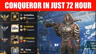 REACH CONQUEROR IN JUST HOURS!! BEST & EASIEST WAY TO REACH CONQUEROR   PUBG MOBILE 2020