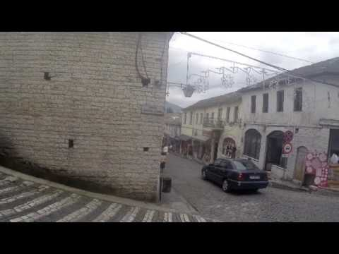 Gjirokaster in Albania - Visiting the Town and Fortress | Bicycle touring vlog 12