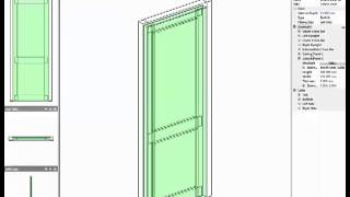 Designing doors with raised panels in Polyboard