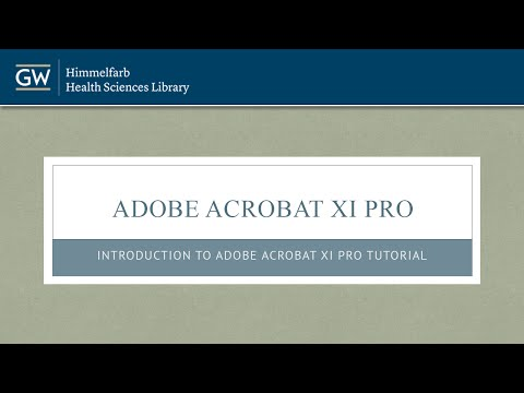 Adobe Acrobat XI Pro Tutorial