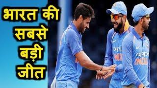 INDIA vs WEST INDIES 2nd ODI    इंडिया ने वेस्ट इंडीज को 105 रनों से हराया    भारत की सबसे बड़ी जीत