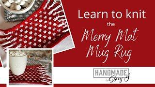 Merry Mat Mug Rug Pattern Tutorial