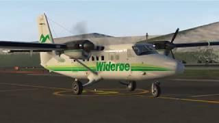 X PLANE 11-LIVE-DHC6-300 TWIN OTTER - FLIGHT HAMMERFEST - TROMSO (NORWAY TRIP)