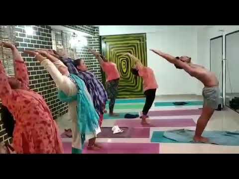 surya namaskar dheeraj hot yoga  youtube