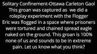 Creepiest EVP Capture at HI Ottawa Jail Hostel