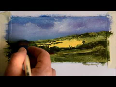 3 Fast landscapes and some oil painting tips