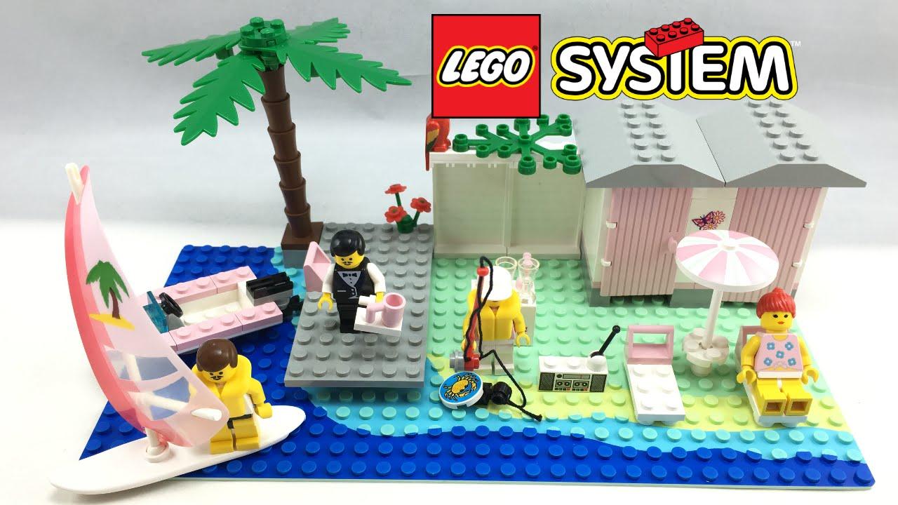 Lego Town Paradisa Cabana Beach Set Review 1994 Set 6410