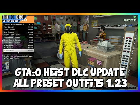 GTA 5 ONLINE - ''HEISTS DLC UPDATE'' - ''ALL PRESET OUTFITS/CLOTHES'' (GTA 5 HEISTS)