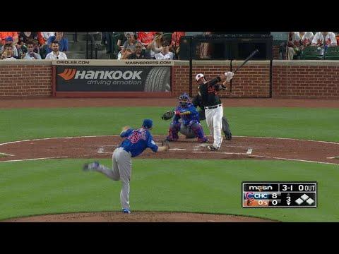 CHC@BAL: Castillo belts a solo homer to center field