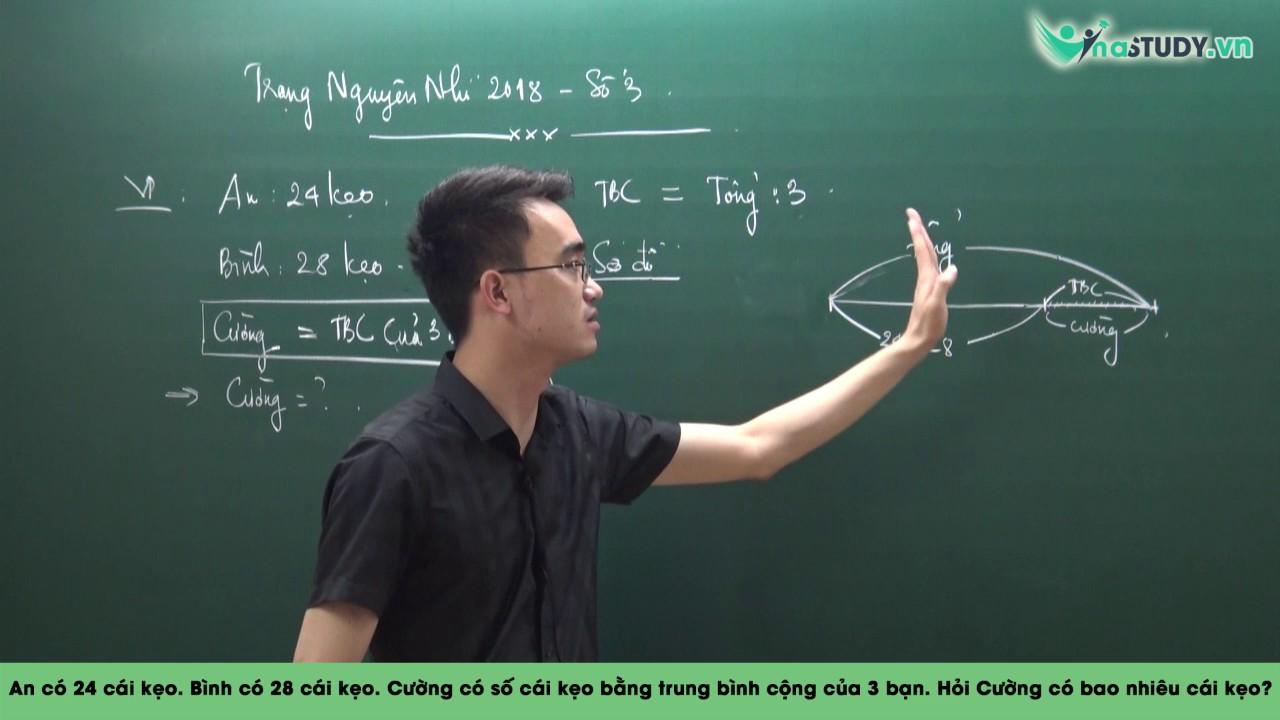 Tìm số trung bình cộng – Bài Toán Trung Bình Cộng – Toán nâng cao lớp 4 – Liên hệ 0932393956