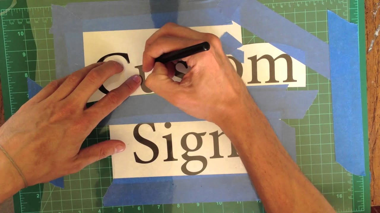 diy how to make a stencil and paint custom signs youtube. Black Bedroom Furniture Sets. Home Design Ideas