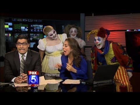 Fox 5 Anchor Scared by Clowns